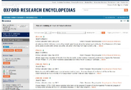 Oxford Research Encyclopedias home page